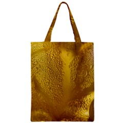 Beer Beverage Glass Yellow Cup Zipper Classic Tote Bag