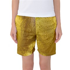 Beer Beverage Glass Yellow Cup Women s Basketball Shorts