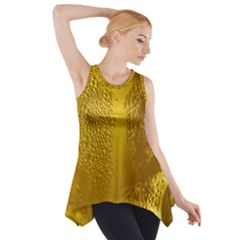Beer Beverage Glass Yellow Cup Side Drop Tank Tunic