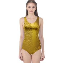 Beer Beverage Glass Yellow Cup One Piece Swimsuit