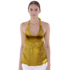 Beer Beverage Glass Yellow Cup Babydoll Tankini Top