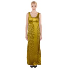 Beer Beverage Glass Yellow Cup Maxi Thigh Split Dress