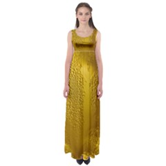 Beer Beverage Glass Yellow Cup Empire Waist Maxi Dress