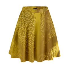 Beer Beverage Glass Yellow Cup High Waist Skirt