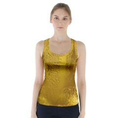 Beer Beverage Glass Yellow Cup Racer Back Sports Top