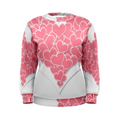 Heart Stripes Symbol Striped Women s Sweatshirt