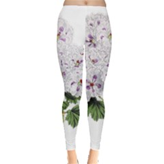 Flower Plant Blossom Bloom Vintage Leggings