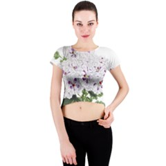 Flower Plant Blossom Bloom Vintage Crew Neck Crop Top