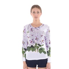 Flower Plant Blossom Bloom Vintage Women s Long Sleeve Tee