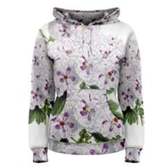 Flower Plant Blossom Bloom Vintage Women s Pullover Hoodie