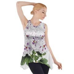 Flower Plant Blossom Bloom Vintage Side Drop Tank Tunic
