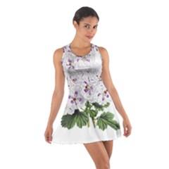 Flower Plant Blossom Bloom Vintage Cotton Racerback Dress