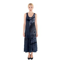Graphic Design Background Sleeveless Maxi Dress