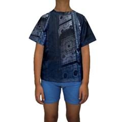 Graphic Design Background Kids  Short Sleeve Swimwear