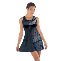 Graphic Design Background Cotton Racerback Dress