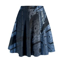 Graphic Design Background High Waist Skirt