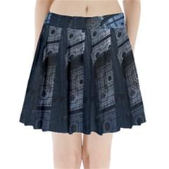 Graphic Design Background Pleated Mini Skirt
