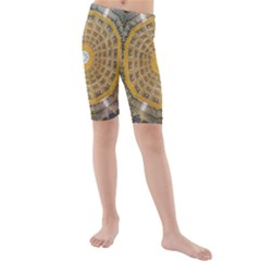 Arches Architecture Cathedral Kids  Mid Length Swim Shorts