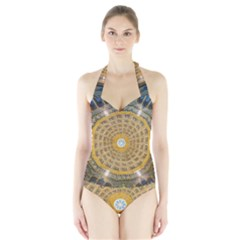 Arches Architecture Cathedral Halter Swimsuit