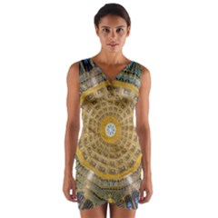 Arches Architecture Cathedral Wrap Front Bodycon Dress