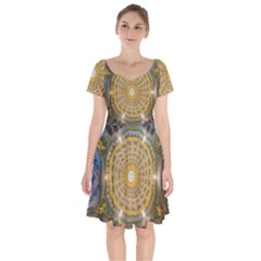 Arches Architecture Cathedral Short Sleeve Bardot Dress