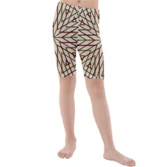 Kaleidoscope Online Triangle Kids  Mid Length Swim Shorts