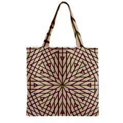 Kaleidoscope Online Triangle Zipper Grocery Tote Bag