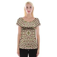 Kaleidoscope Online Triangle Women s Cap Sleeve Top