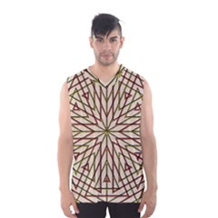 Kaleidoscope Online Triangle Men s Basketball Tank Top
