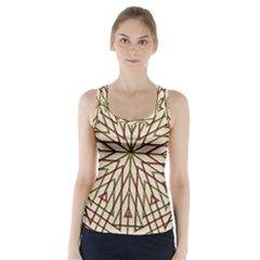 Kaleidoscope Online Triangle Racer Back Sports Top