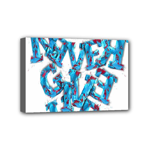 Sport Crossfit Fitness Gym Never Give Up Mini Canvas 6  X 4