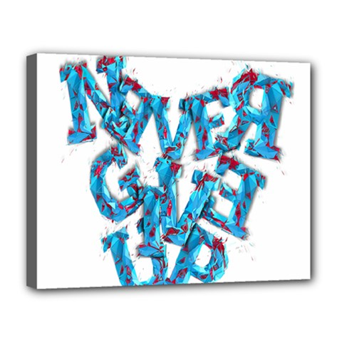 Sport Crossfit Fitness Gym Never Give Up Canvas 14  x 11