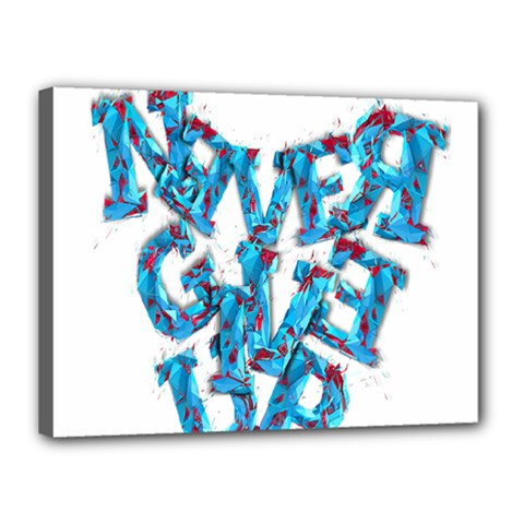 Sport Crossfit Fitness Gym Never Give Up Canvas 16  x 12