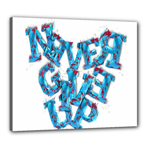 Sport Crossfit Fitness Gym Never Give Up Canvas 24  X 20