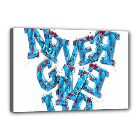 Sport Crossfit Fitness Gym Never Give Up Canvas 18  X 12