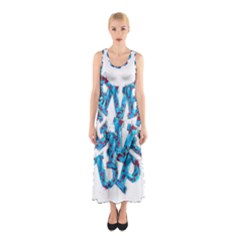 Sport Crossfit Fitness Gym Never Give Up Sleeveless Maxi Dress