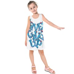 Sport Crossfit Fitness Gym Never Give Up Kids  Sleeveless Dress