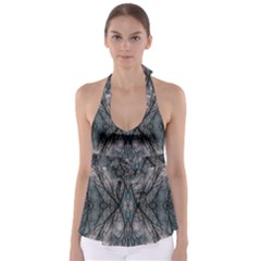 Storm Nature Clouds Landscape Tree Babydoll Tankini Top