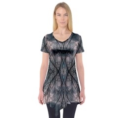 Storm Nature Clouds Landscape Tree Short Sleeve Tunic