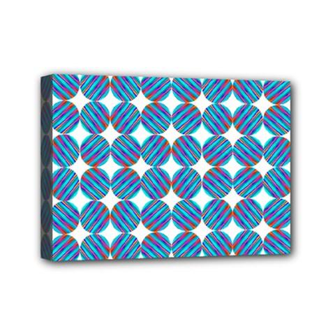 Geometric Dots Pattern Rainbow Mini Canvas 7  x 5