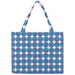 Geometric Dots Pattern Rainbow Mini Tote Bag