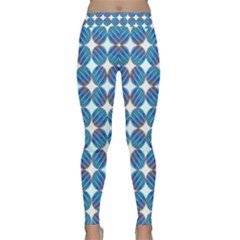 Geometric Dots Pattern Rainbow Classic Yoga Leggings