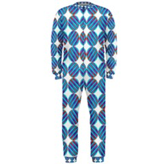 Geometric Dots Pattern Rainbow Onepiece Jumpsuit (men)