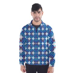 Geometric Dots Pattern Rainbow Wind Breaker (men)