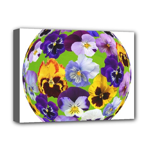 Spring Pansy Blossom Bloom Plant Deluxe Canvas 16  x 12