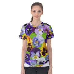 Spring Pansy Blossom Bloom Plant Women s Cotton Tee