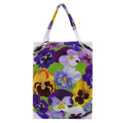 Spring Pansy Blossom Bloom Plant Classic Tote Bag