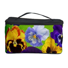 Spring Pansy Blossom Bloom Plant Cosmetic Storage Case