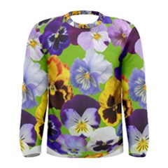 Spring Pansy Blossom Bloom Plant Men s Long Sleeve Tee