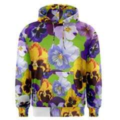 Spring Pansy Blossom Bloom Plant Men s Pullover Hoodie